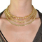 Layered gold chain choker necklace