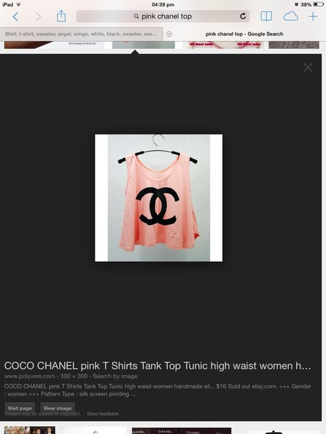 tank top chanel pink tank top chanel tank top beautiful tank top wow orange pink