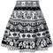 Alexander mcqueen jacquard knit skater skirt, women's, size: xs, black, polyamide/polyester/spandex/elastane/viscose