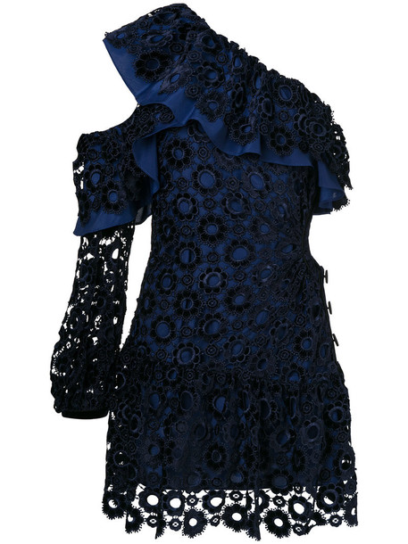 self-portrait dress women spandex blue