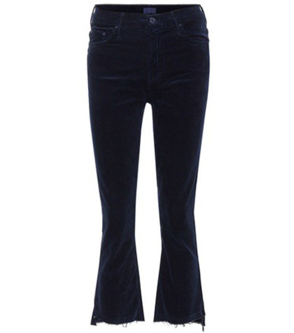 Mother Insider Crop Step Fray jeans in blue