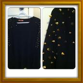 sweater,long sleeves,black,studded,gorgeous