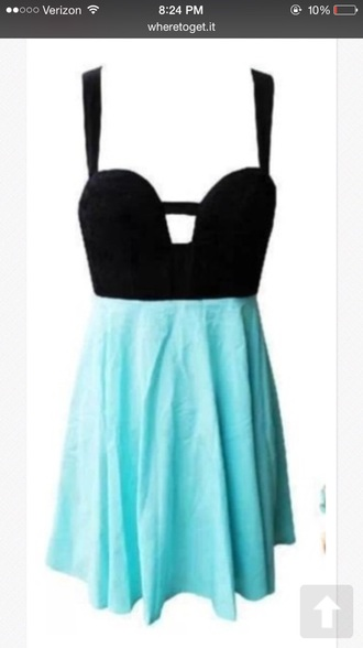 turquoise cut-out dress