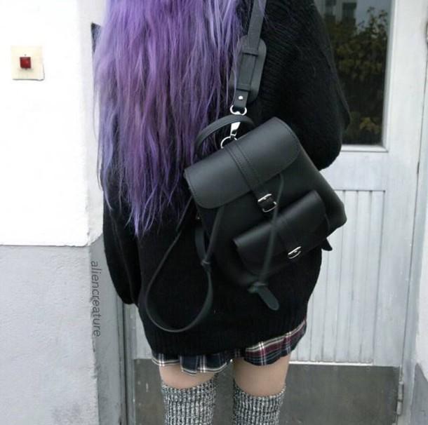 05bece1188 bag black grunge little black backpack little black bag