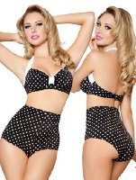 Amazon.com: Red Polka Dot High Waisted Pin Up Bikini Set - SMALL/MEDIUM: Fashion Bikini Sets: Clothing