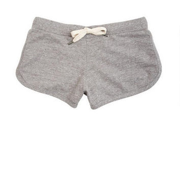 Heather Grey Lounge Shorts on Wanelo