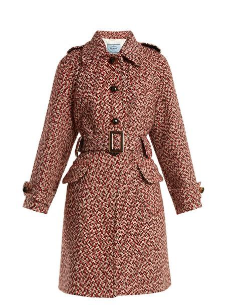 Prada coat wool coat wool red