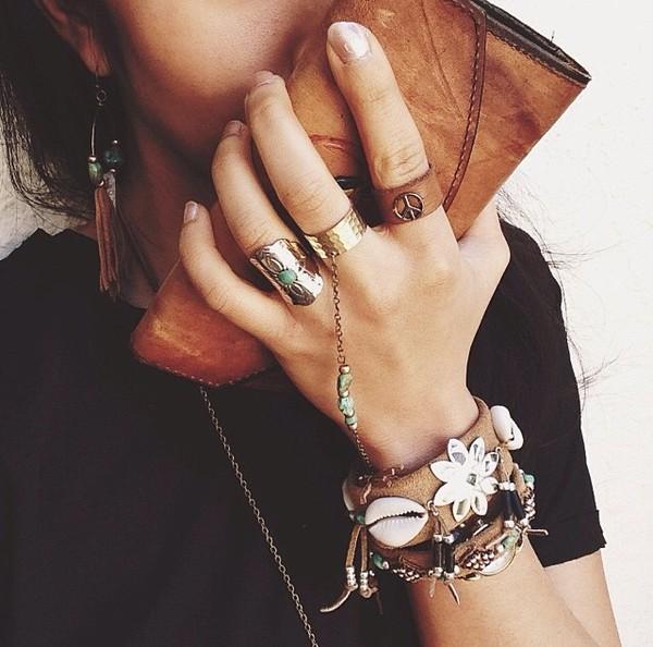 jewels wallet ring bracelets boho