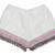 Short crudo borlas rosa & plata – Mekkdes