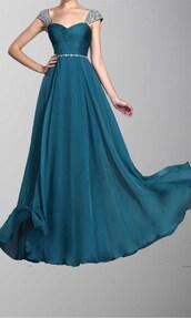 long prom dress,peacock dress,long formal dress,cap sleeve dress,rhinstones,twisted dress,luxury dresses