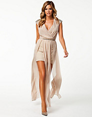 Plunge Maxi Dress - River Island - Nude - Party Dresses - Clothing - Women - Nelly.com