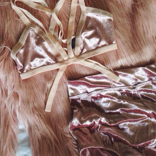 underwear velvet bralette cut-out udnerwear bra music festival