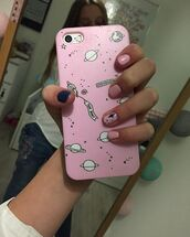 phone cover,yeah bunny,pink,space,iphone case,cover