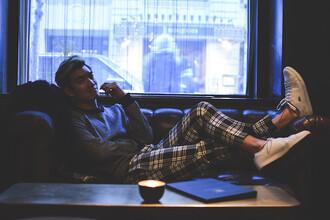 alexander liang blogger menswear tartan mens sweater lacoste