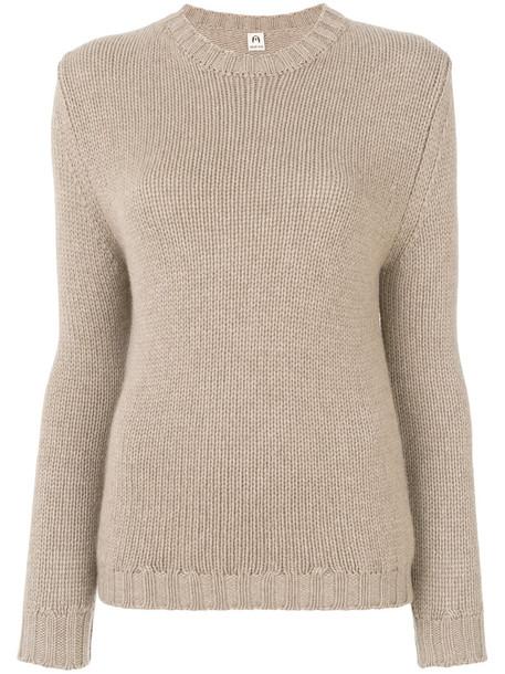 jumper women nude knit sweater