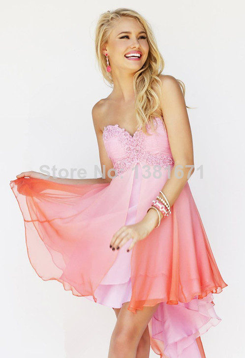 Aliexpress.com : Buy Stunning Applique Sweetheart Ombre Beach Charming Short Cocktail Dress from Reliable cocktail fountain suppliers on Aojia Top Evening Dress