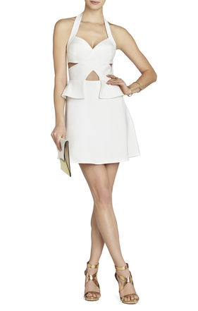 Denisa Cutout Halter Dress | BCBG