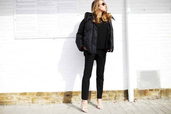 vasilieva blogger jacket t-shirt sunglasses down jacket