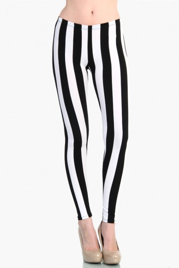 LoveMelrose.com From Harry & Molly | Vertical Stripe leggings from Love Melrose - LEGGINGS - BOTTOMS
