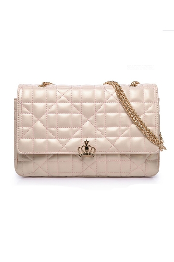 Aristocratic Ladies Chain Lock Bag In Pink [FPB664] - PersunMall.com