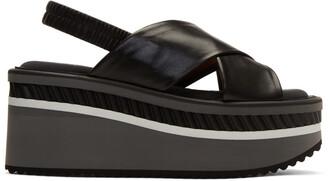 cross sandals black shoes