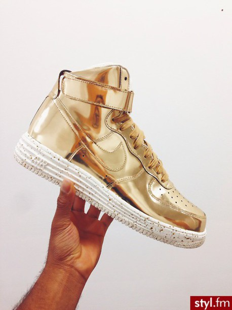 shoes gold nike sneakers