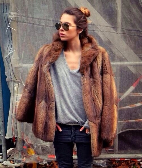 coat fur fur coat faux fur coat faux fur jacket fluffy cozy fluffy furry coat chic city city outfits cool dope
