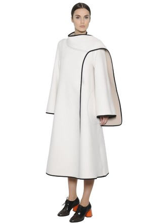 coat wool coat wool white