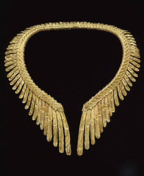 jewels necklace gold wings feathers