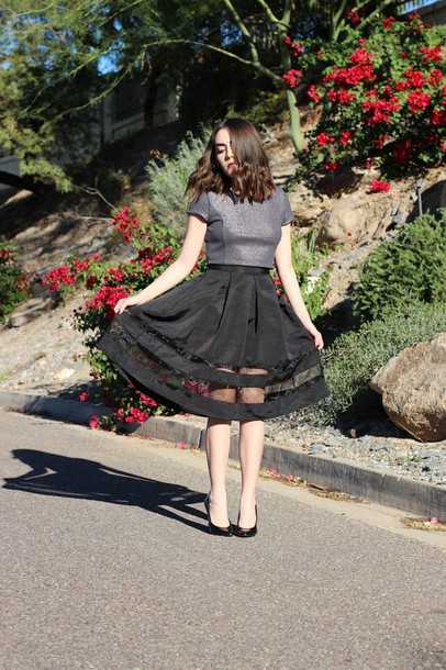 platforms for breakfast blogger midi skirt silver black skirt top skirt jewels