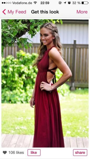 dress red red dress beautiful red dress abiball prom dress long prom dress