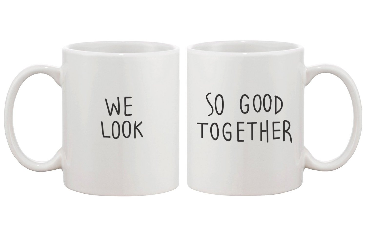 Amazon.com: Look Good Matching Couple Mugs - Perfect Wedding, Engagement, Anniversary, and Valentines Day Gift for Newlyweds: Kitchen & Dining