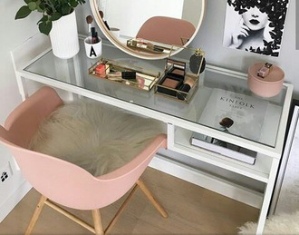 home accessory chair makeup table