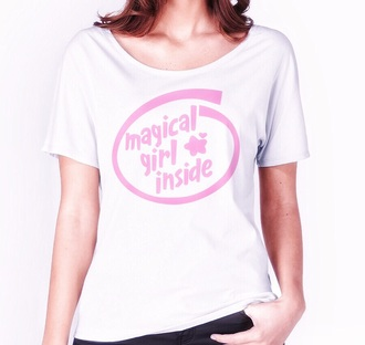 blouse magical girl kawaii kawaii grunge kawaii accessory kawaii outfit kawaii shirt pastel pastel goth pastel pink cute graphic tee tumblr tumblr outfit tumblr clothes instagram pink
