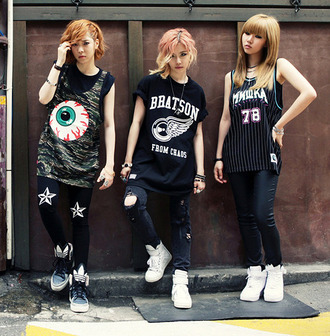 t-shirt punk korean fashion