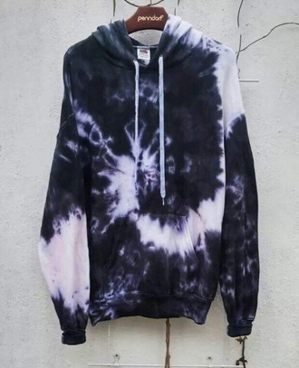 sweater tiedye top tie dye sweater tie dye sweatshirt black white black and white