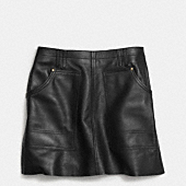 Leather workwear skirt