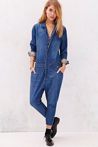 jumpsuit denim overalls denim grunge hippie urban outfitters