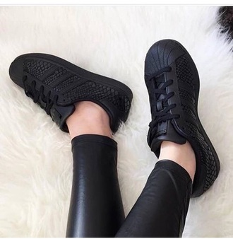 shoes adidas adidas superstars adidas shoes black snake print black shoes