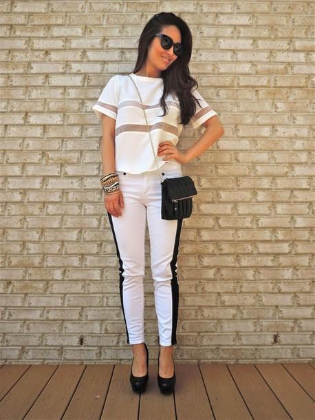 sensible stylista top bag sunglasses jewels shoes