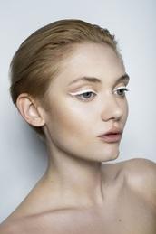 make-up,whiteeyes,whiteeyeliner,eyeliner,eyes,white,beautiful,fashion,fabulous,eye makeup,eye,pretty,cute,natural makeup look,nars cosmetics