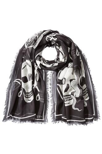 skull scarf print black