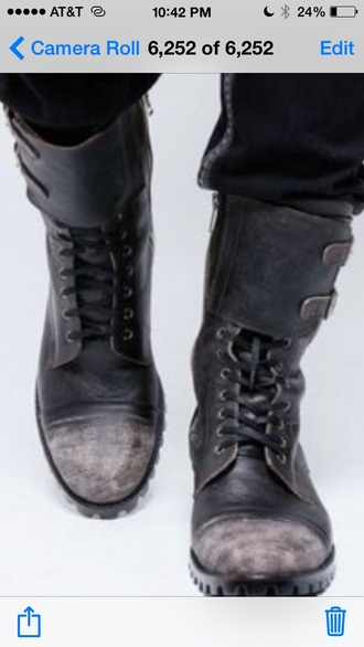 vintage distressed boots shoes