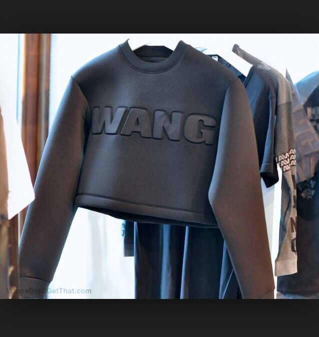Alexander wang x h&m scuba cropped jumper size s bloggers fav black sold out!!!