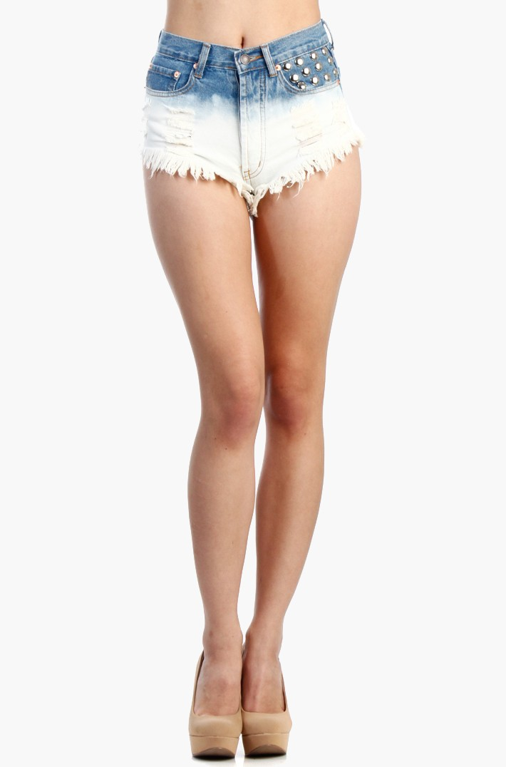Dome studs shorts - Cutoff Shorts