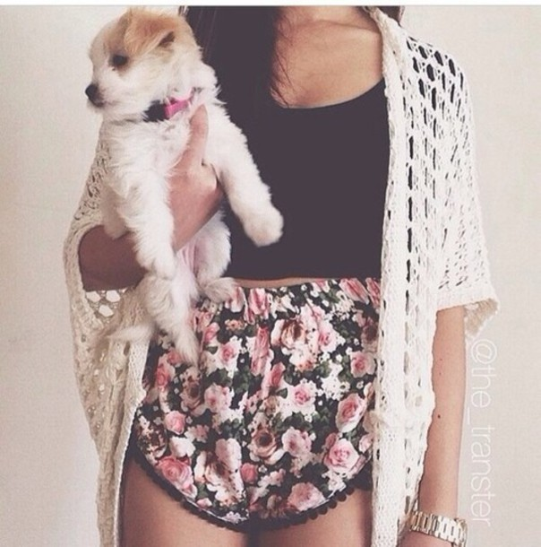 shorts flowered shorts floral