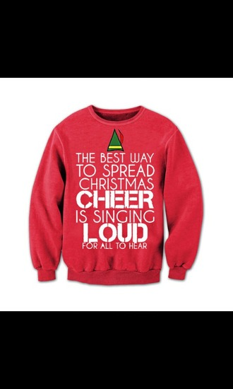 sweater elf the elf christmas christians sweater christmas cheer ugly christmas sweater