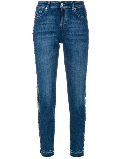 Alexander Mcqueen jeans women spandex cotton blue