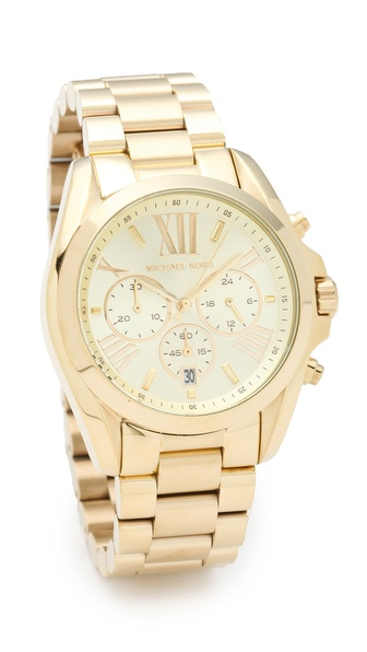 Michael Kors Bradshaw Gold Chronograph Watch | SHOPBOP