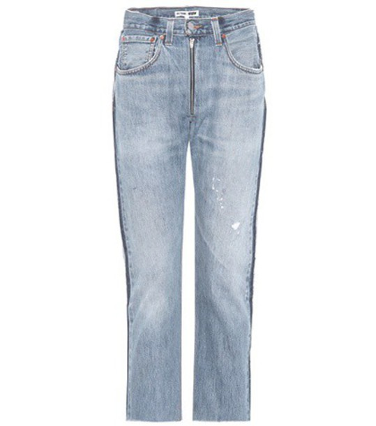 Re/Done jeans zip blue